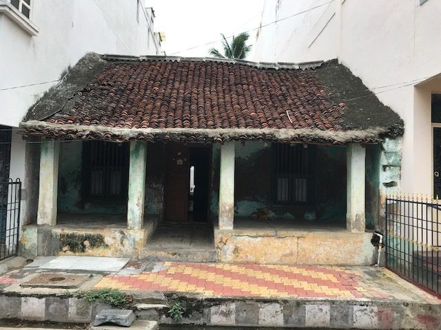 Casa antigua en Pondicherry